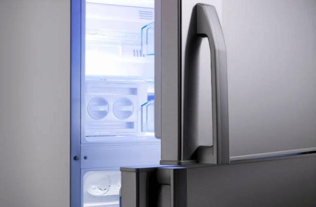 broken refrigerator ice